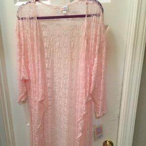 Lularoe Shirley Large pink lace
